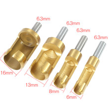 1Sets Bored Hole Wood Tenon Hole Saw Arbors foret bois woodworking tools taladro manual Barrel Cork Drill Plug Cutter Drill Bit(China)