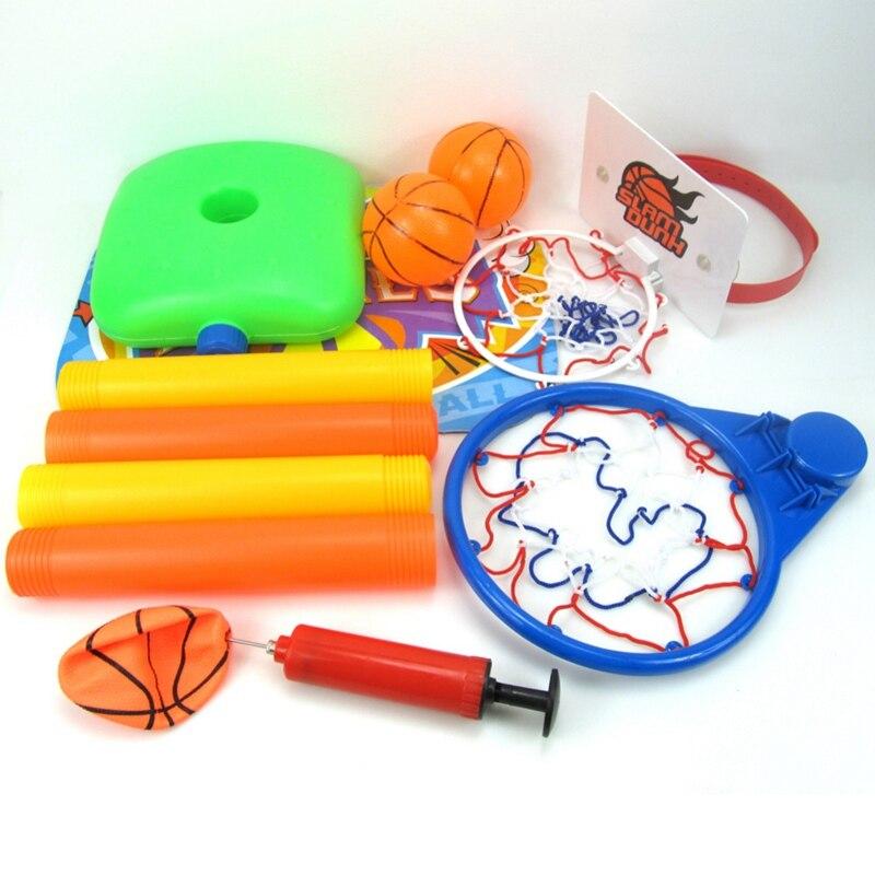15 Pecs Children 39 s basketball stand Portable Basket rack Indoor plastic shooting rack adjustable Children 39 s basketball toys in Toy Balls from Toys amp Hobbies