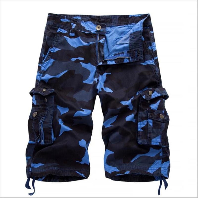 Military Camo Cargo Shorts 2018 Summer Fashion Camouflage Multi-Pocket Homme Army Casual Shorts Bermudas Masculina Knee Shorts