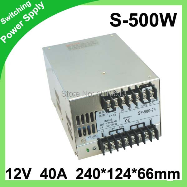 500W Switching Power Supply 12v 40A Indoor Power Switch AC 110V/220V Led Driver For Led Strip Lamp dc power supply 36v 9 7a 350w led driver transformer 110v 240v ac to dc36v power adapter for strip lamp cnc cctv