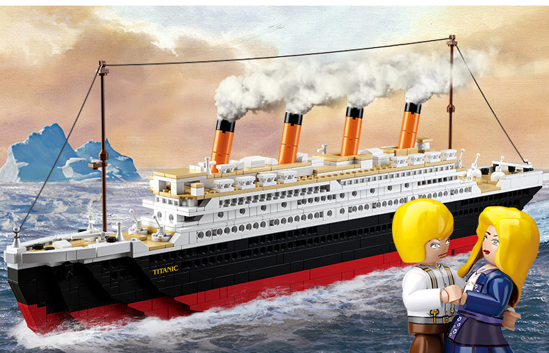 Sluban RMS Titanic 3D City Ship 1021PCS Construction Brick Block Set Educational Hobbies Toys Minifigure Compatible
