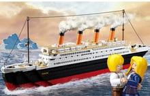 Sluban RMS Titanic 3D City Ship 1021PCS Construction Brick Block Set Educational Hobbies Toys Minifigure Compatible with Legoe