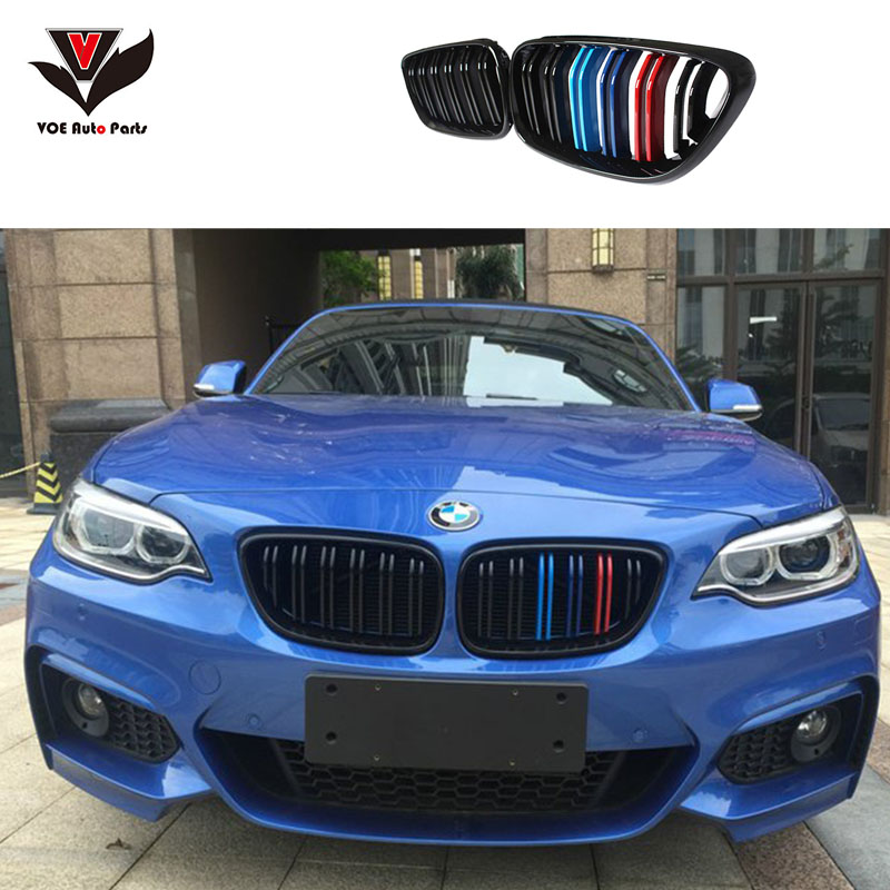 F22 F23 Coupe & Convertible F87 M2 M-look Carbon Front Racing Grill Grille for BMW 2 Series F22 F23 F87 M2 2014 2015 2016 image