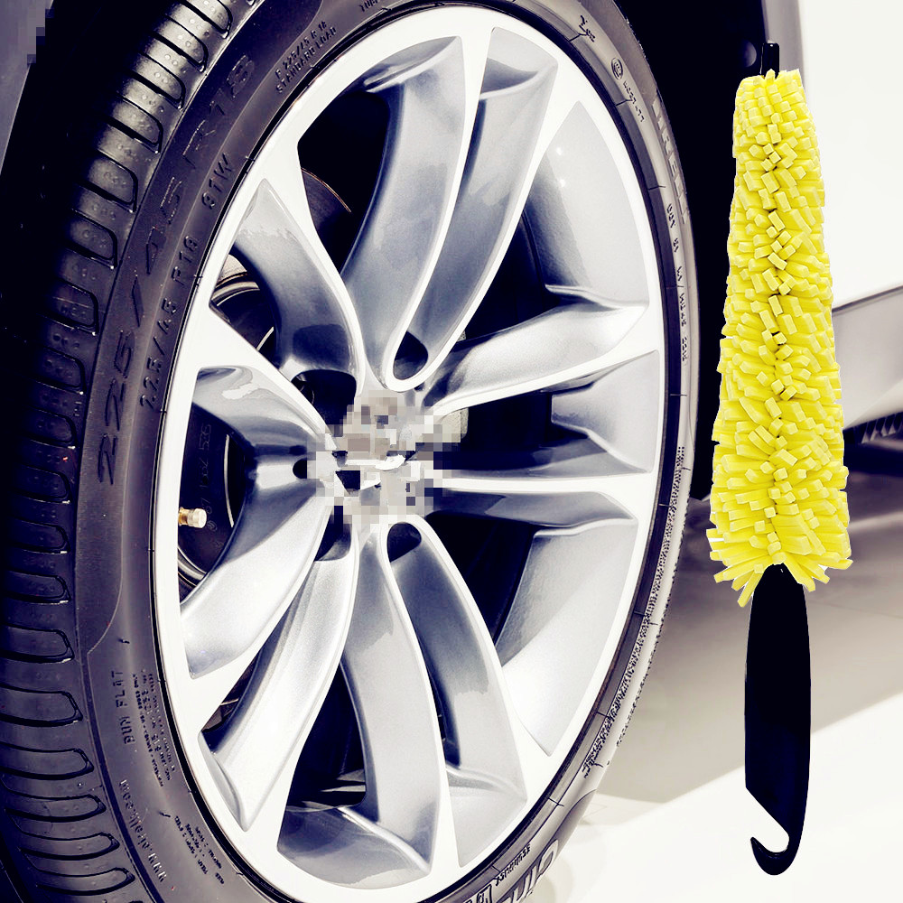 Car <font><b>Wheel</b></font> Wash Brush Handle Rim Tire Washing Auto Scrub Tool for <font><b>Peugeot</b></font> 206 307 <font><b>406</b></font> 407 207 208 308 508 2008 3008 4008 image