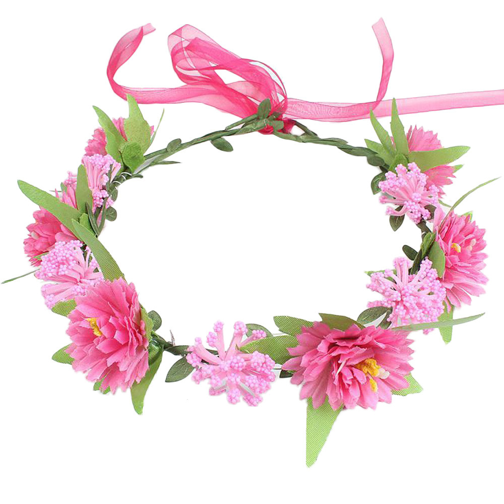 kids Head Wreath beach Flower Crown For Girls Hair Headband Hair ...