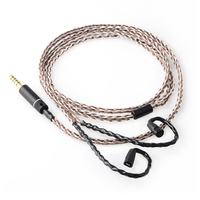OKCSC 7N IE80 Earphone Cable For Sennheiser Copper Silver Plated 2.5mm/3.5mm/4.4mm Balanced Plug Type c for Lightning