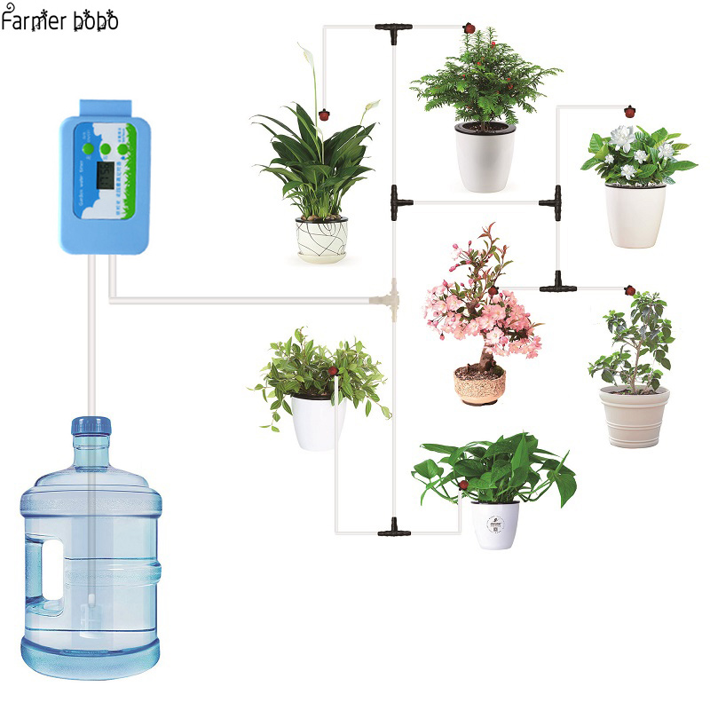 Automatische Drip Irrigatiesysteem Pomp Controller Watering Kits Met Ingebouwde Hoge Kwaliteit Membraan Pomp Gebruikt Indoor