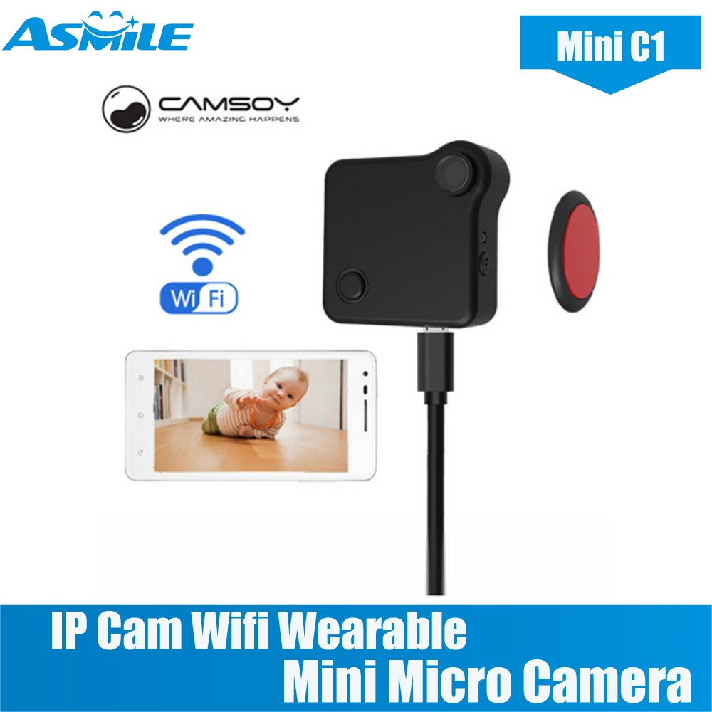C1 Mini Camera HD 720P CAMSOY IP Cam Wifi Wearable Mini Micro Camera Motion Sensor Bike Body Camera With Magnetic Clip Mini DV c9 mini camera wifi ip with motion sensor 720p mini camera wifi hd night vision for iphone android video security magnetic clip