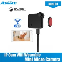 C1 Mini Camera HD 720P CAMSOY IP Cam Wifi Wearable Mini Micro Camera Motion Sensor Bike Body Camera With Magnetic Clip Mini DV