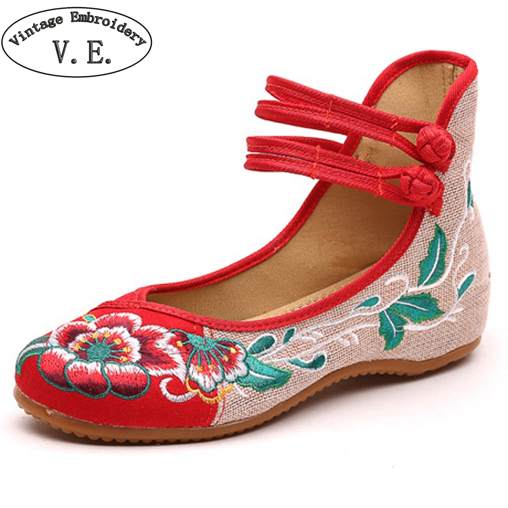 Vintage Women Flats Shoes Old Beijing Mary Jane Ballet Shoes Peacock Casual Cloth Flat Ladies Ballet Shoes Plus Size 43 plus size 41 fashion women shoes old elegant art party beijing mary jane flats with casual shoes chinese style embroidered clo