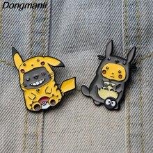 DMLSKY Cartoon Funny Brooch Metal Enamel Pin Women and Men Fashion Brooches Clothes badge Shirt Collar Pins M2882