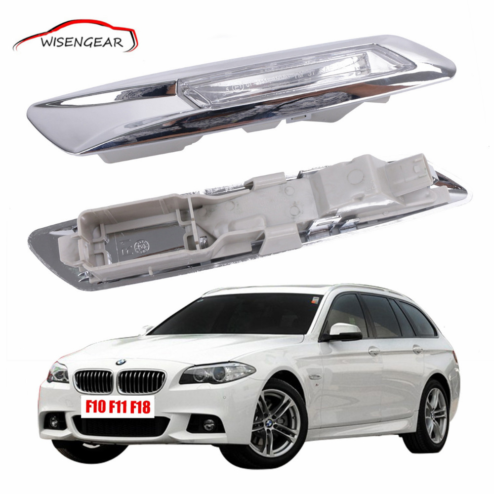 Chrome LED steering Side Marker Turn signal Lights Lamp For BMW F10 F11 F18 5 series M5 2011 - 2015 C/5 free shipping 2x led turn signal side light auto parts led side marker car accessories with m logo for bmw e46 02 05 4d 5d