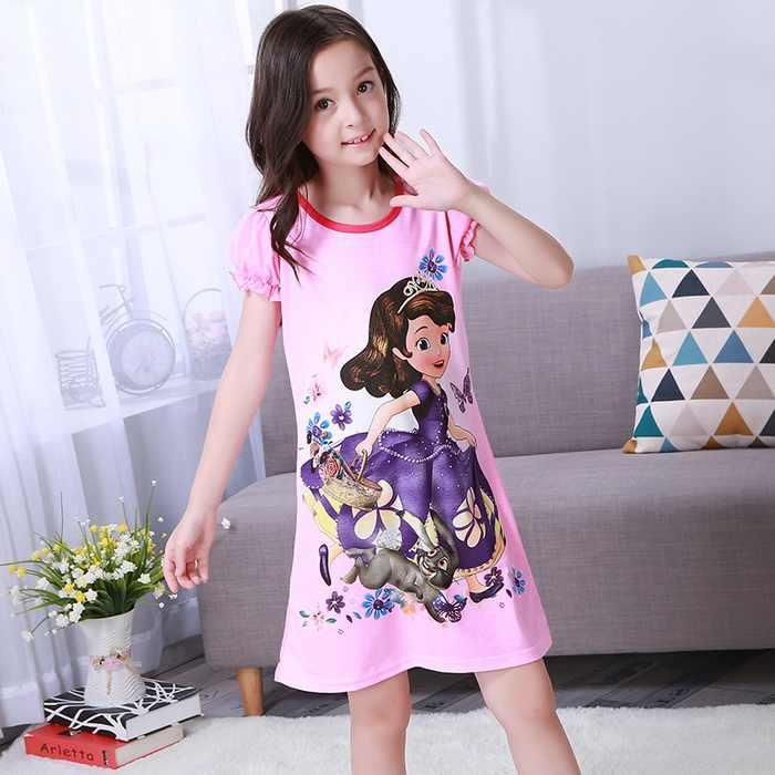 Camis/ón para Chicas De Princesa Ropa De Dormir para Ni/ños Pijama para Ni/ñas Arco Iris 3-12 A/ños
