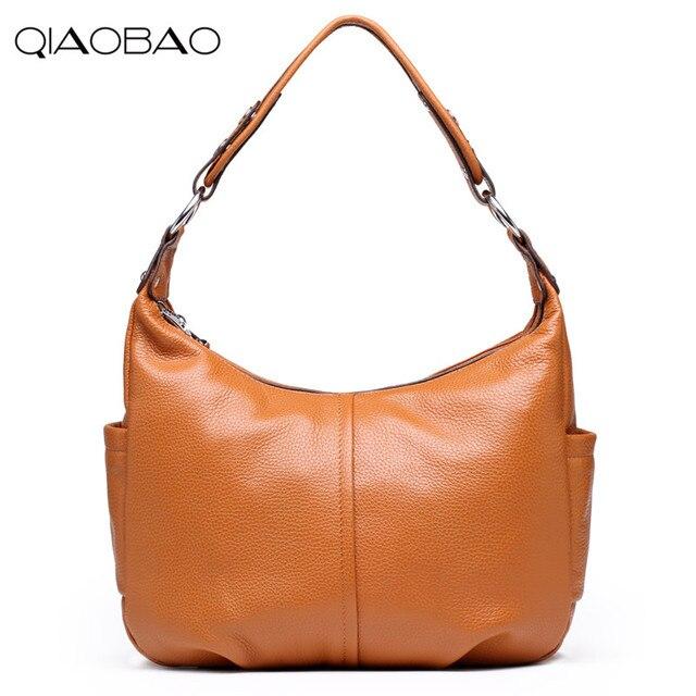 QIAOBAO 100% genuine leather bag designer handbags high quality Dollar  prices shoulder bag women messenger bags famous brands f22de0bfdc2b2
