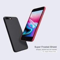10 adet/grup Toptan iPhone 8 Için NILLKIN Süper Buzlu Kalkanı Vaka Artı (5.5 inç) PC Plastik Arka Kapak Ile Ekran Koruyucu