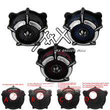 RSD Motorcycle CNC Air Cleaner Intake Filter Fit For Harley Sportster 1200 Road King Gliding Softtail Dyna Touring Street Glide цена и фото
