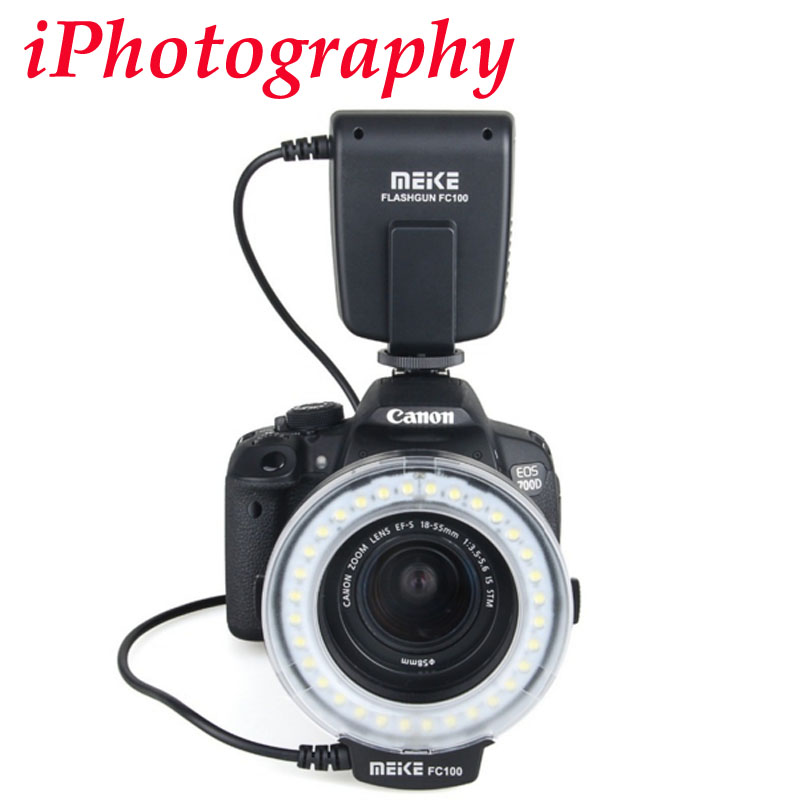 Prix pour Meike FC-100 Macro Ring Flash Light pour Canon EOS 650D 70D T4i T3i T3