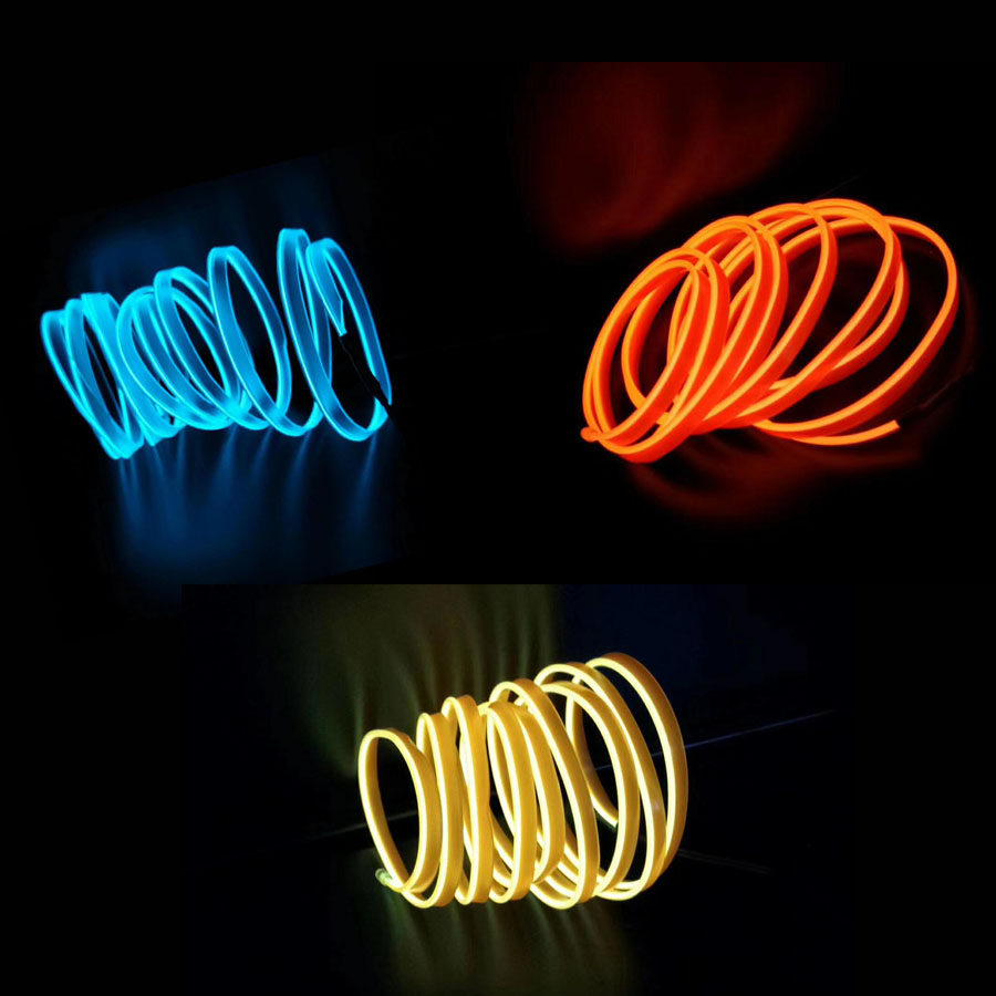 Car styling Lights Interior Decoration Moulding Strips EL Cold Line Flexible For SEAT LEON ARONA ATECA IBIZA FR 2010 2019 in Interior Mouldings from Automobiles Motorcycles