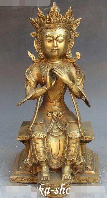 14 Tibet Buddhism Bronze Seat Maitreya Bodhisattva Goddess Bodhisattva Statue14 Tibet Buddhism Bronze Seat Maitreya Bodhisattva Goddess Bodhisattva Statue