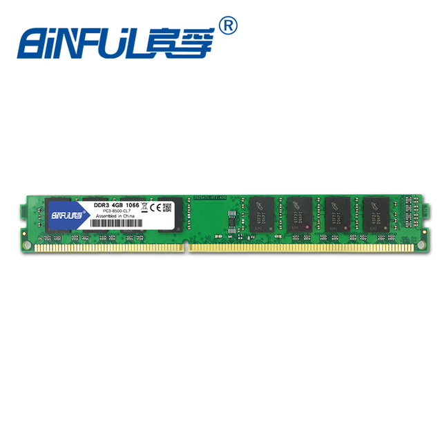 Binful DDR3 4GB 1066MHz PC3-8500 Memory Ram memoria ram For desktop PC non-ECC System High Compatible