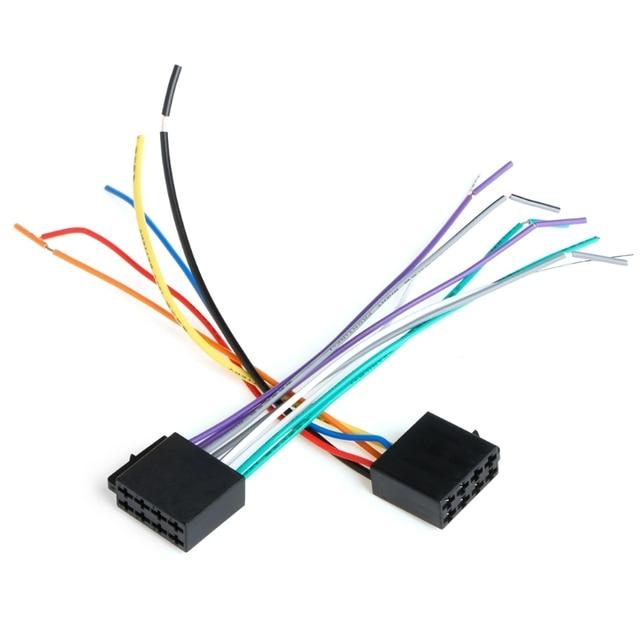 1 SATZ Universelle Weibliche ISO Kabelbaum Autoradio Adapter Stecker ...