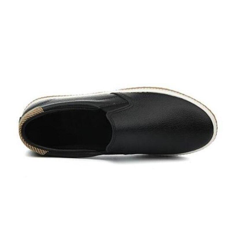 2018 Noir Marque Mode Zh2221 Chaussures Appartements Blanc Cuir Souple Dames Mocassins Femmes Nouvelle Noir Casual blanc Haute En Qualité De ddwZRq