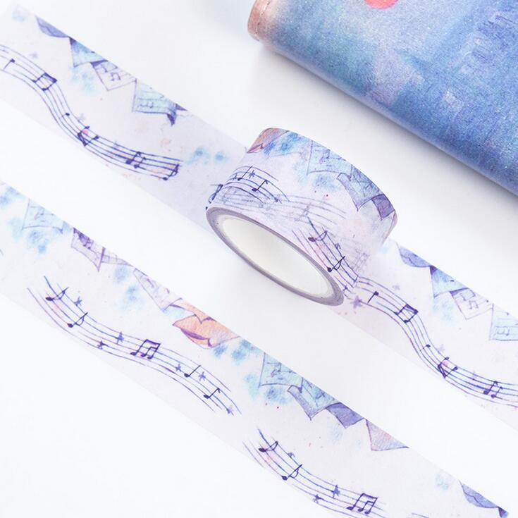 Creative Movement Music Washi Tape Adhesive Tape DIY Scrapbooking Sticker Label Masking Craft Tape