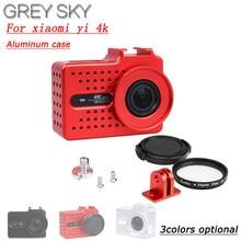 New for Xiaomi Yi 2 4k 4k+ Accessory Aluminium Alloy Metal Housing Frame Protective Case +UV filter for Xiao Yi 4k action camera