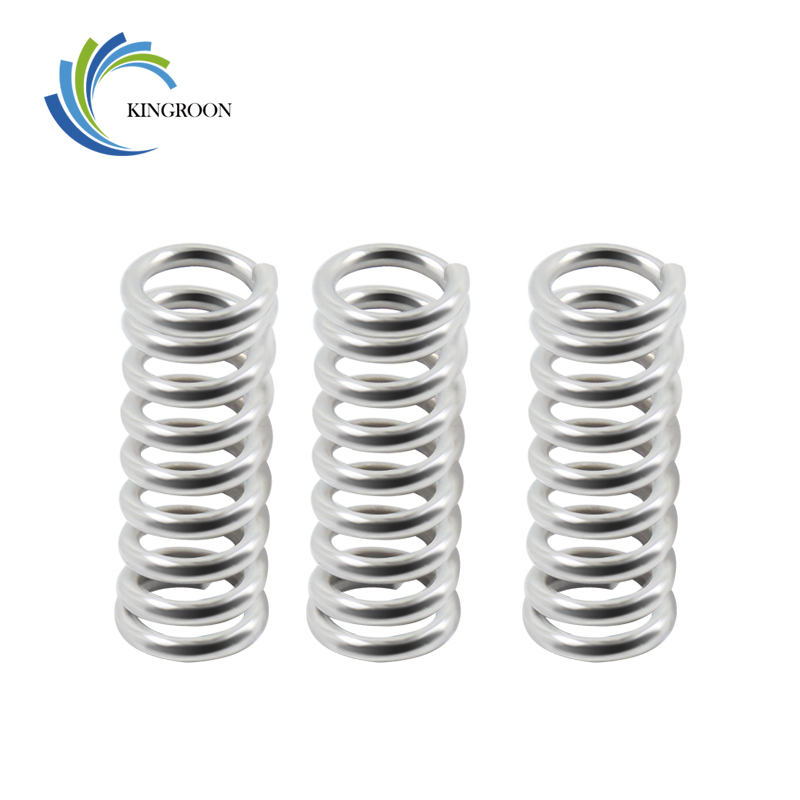 KINGROON 10pcs/lot Feeder Springs Nickel Plating Stainless Steel Part Aluminum 1.2mm 5mm Length 20mm Springs 3D Printers Parts 1