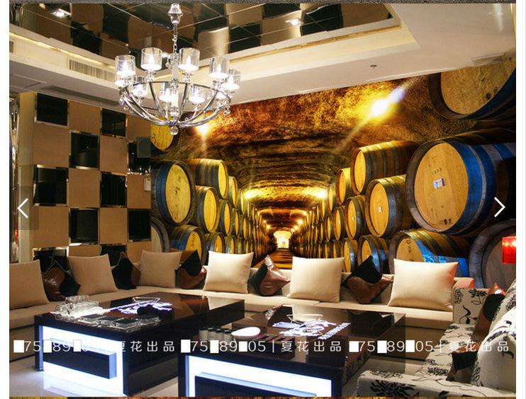 Customized 3d photo wallpaper 3d wall mural wallpaper Historicism is decorated setting wall wine cellar living room decoration