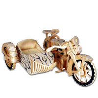 A Kids Toys Of 3d Puzzle Wooden Toys For Children Motorcycle Sidecar A Best Montessori Educationaly