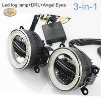 SNCN LED Daytime Running Light Fog Lamp Angle Eyes For Honda BRV BR V 2016 2017