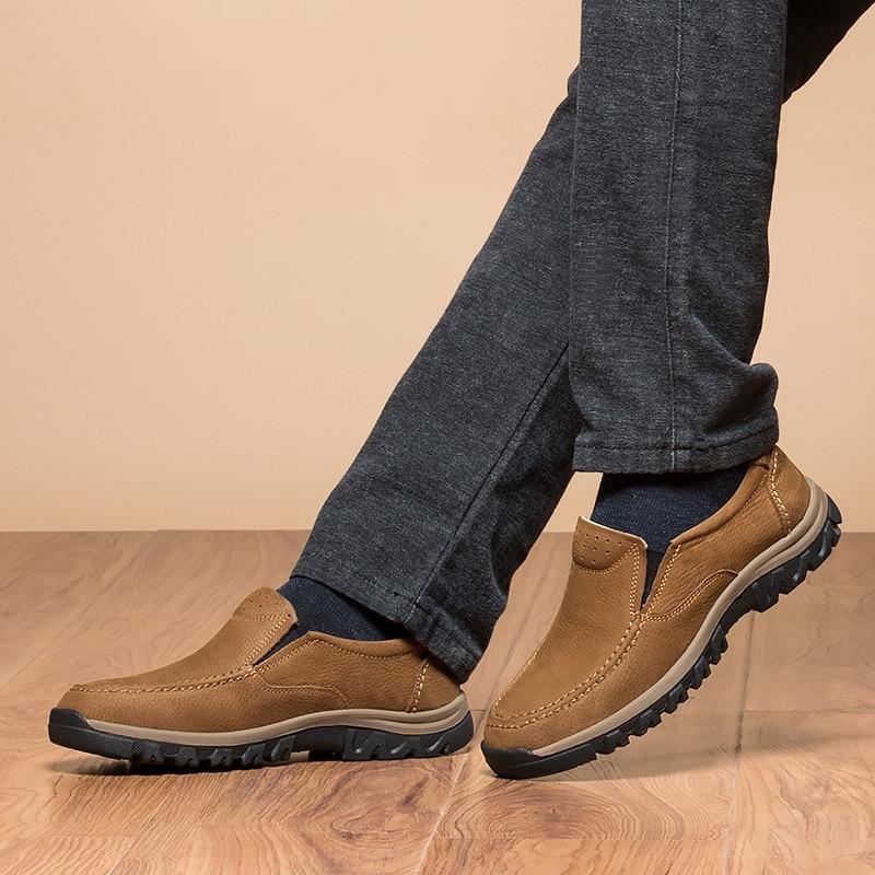 Brown Jeunes Vache Mode En De khaki Cuir Pour Mocassins Conduite Chaussures Kaki 2018 Véritable Casual Slip amp; on Hommes Brun Grande Taille Homme 81dxwZIZ