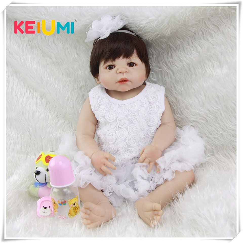 Lifelike 23 Inch Princess Girl Baby Dolls Full Silicone 57 cm Realistic Reborn Dolls For Sale