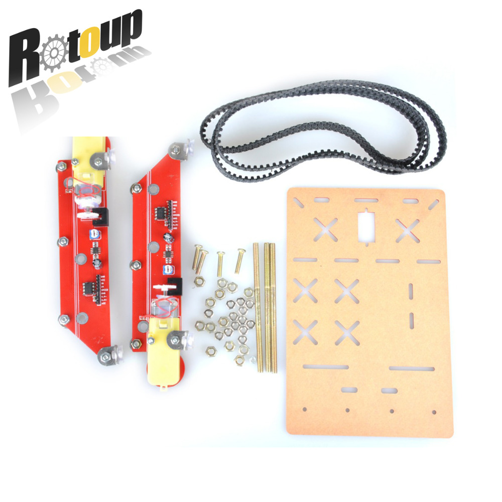Rotoup Smart robot car chassis kits metal track tank Crawler kit aluminum Robot Platform chasis speed Encode for arduino #RBP013 speed test counting module for smart tracing car yellow