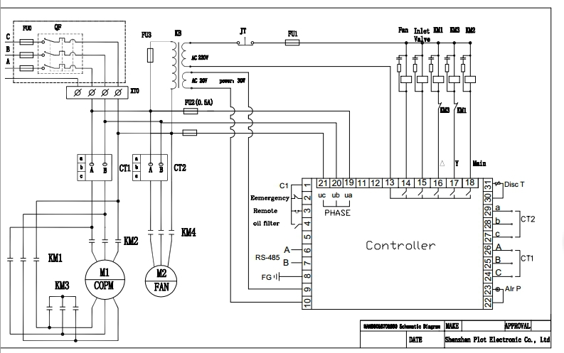 wiring diagram for 5hp air compressor