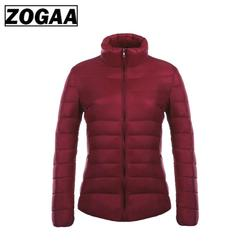 ZOGAA Women's Parkas Winter Jacket Coat For Woman Casual Solid Stand Collar Parka Jackets Female Cotton Coat Slim Fit Outwear 5