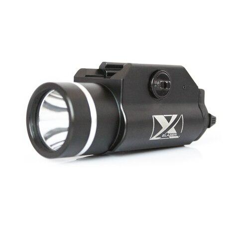 laserspeed pistola de aluminio 450lumens capacete tatico led luz caca arma lanterna para glock g17