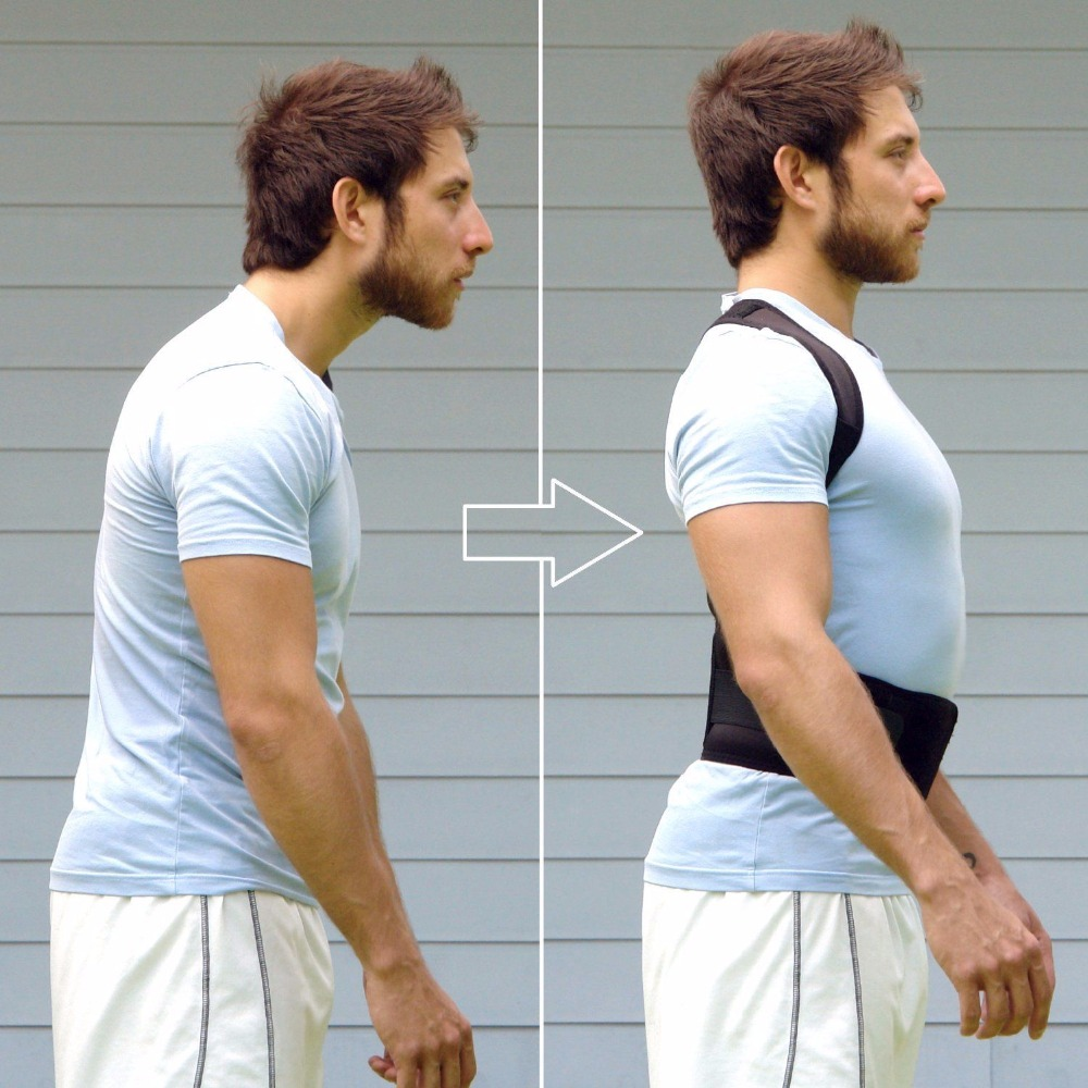 APTOCO Adjustable Magnet Posture Corrector Male Corset Back Belt Straightener Brace Shoulder Corrector De Postura Suporte Belt