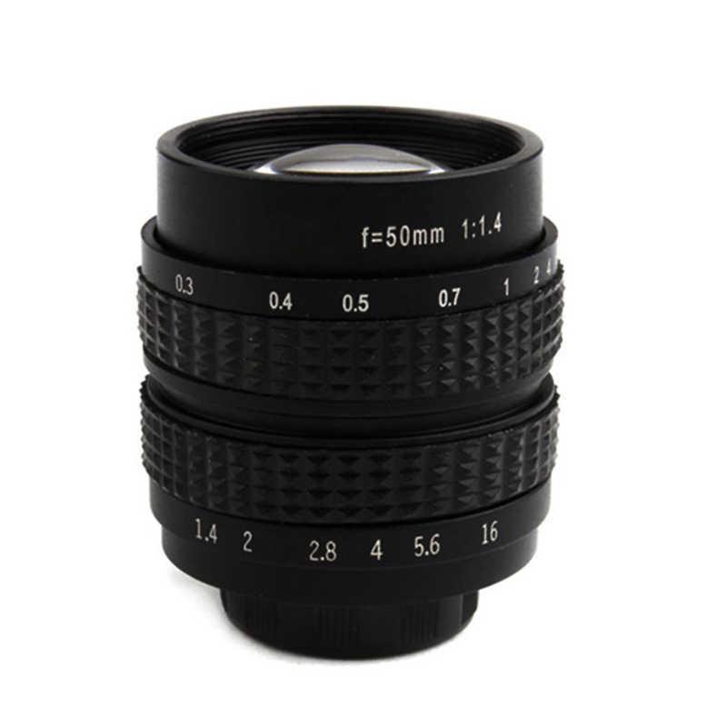 Objectif de film d'objectif de caméra unique numérique 50mm F1.4 pour SONY NEX3 NEX6 NEX7 A6500 A6300 A6000 A5000 C