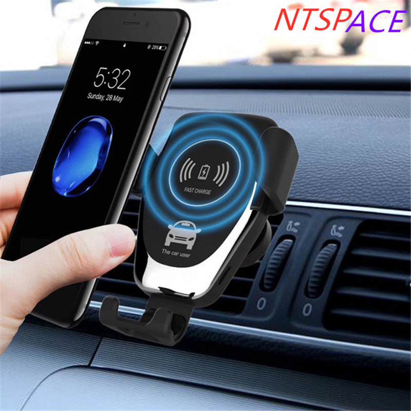 10W Car Mount Holder For Samsung S9 S8 Note 9 S7 edge Qi Wireless Fast Charger For iPhone Xs Max XR X Car Charger With iPack APP