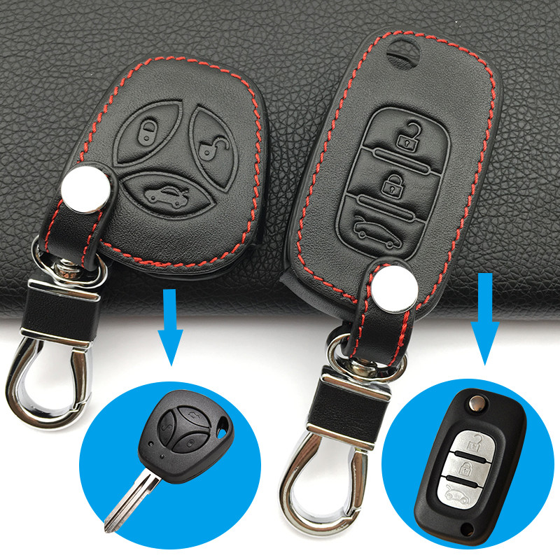 Car Leather Key Case Keyboard Cover For LADA Sport Sedan Priora Kalina Granta Vesta X-Ray X-Ray Car Keys Accessories Key Cases(China)