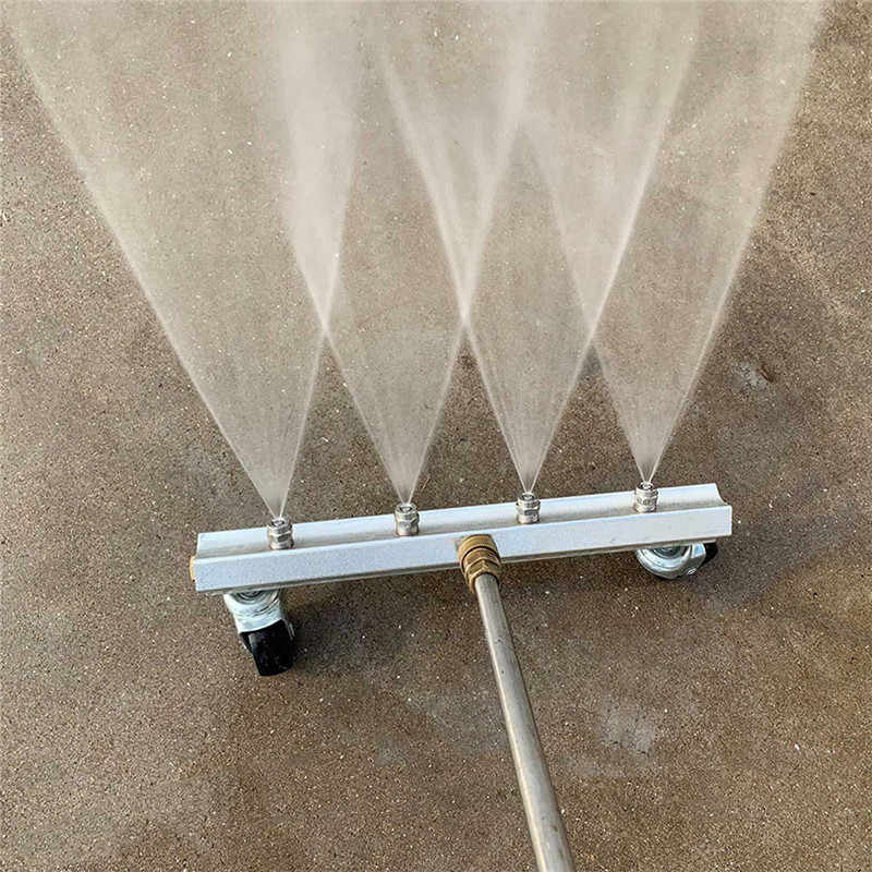 13 inch Cleaner Under Car Pressure Washer Undercarriage Wash 4000 PSI 4pcs Nozzle 1/4inch Male Plug Stainless Steel With Two Rod