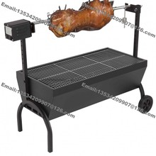 Free Shipping Medium Chicken Gyro Charcoal Barbeque BBQ Grill Spit Rotisserie Hog Roaster Machine with 220v 240v 20kg Motor