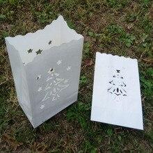 Бесплатная доставка 20 шт./лот 16*9*26 см белый Рождественская Елка Свеча Бумажный Мешок Рождественские украшения