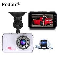 3.0 pulgadas Lente Dual Dash Cam Cámara Del Coche DVR Hd 1080 P de la Caja Negra Del Vehículo Dvr Grabador de Vídeo Frontal y Trasera con Copia de Seguridad cámara