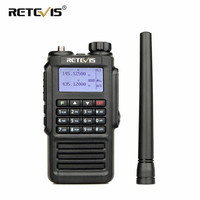 band vhf uhf Retevis RT87 מקצועי IP67 Waterproof מכשיר הקשר 5W 128CH VHF UHF Dual Band מערבל VOX FM שני הדרך רדיו ווקי טוקי (2)