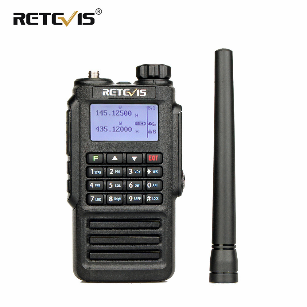 Retevis RT87 Professionnel IP67 Étanche Talkie Walkie 5 w 128CH VHF UHF Double Bande Scrambler VOX FM Radio Bidirectionnelle talkie-walkie