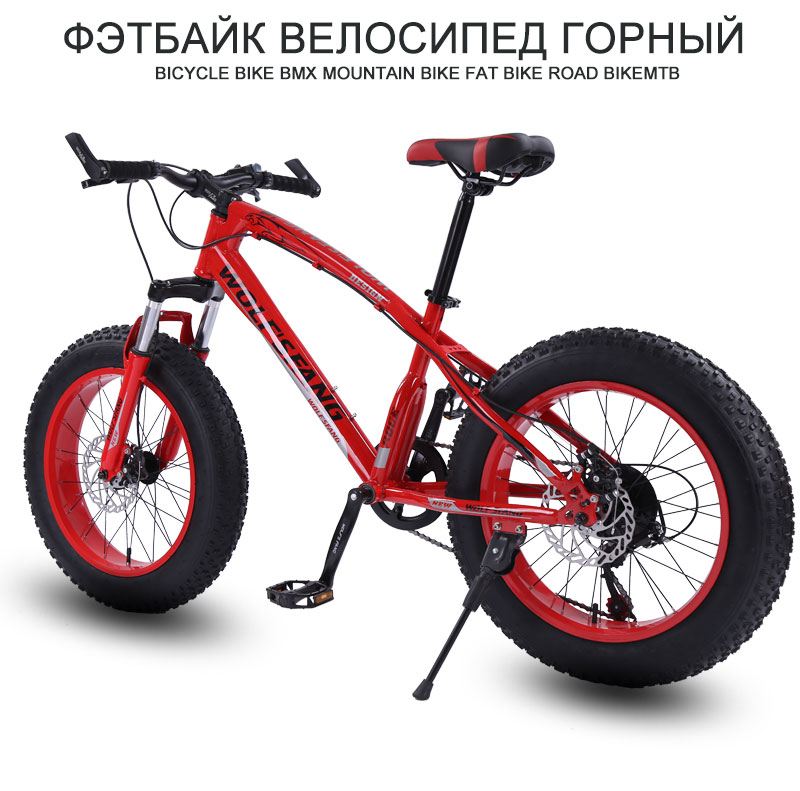 HTB1N2tMd8Kw3KVjSZFOq6yrDVXad Bicycle Mountain bike 7/21 speed Fat Road Snow bikes 20*4.0 Front and Rear Mechanical Disc Brake New Free shipping