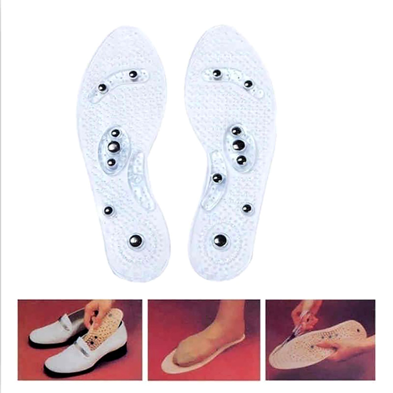 1Pair Shoe Gel Insoles Feet Magnetic Therapy Health Care for Men Comfort Pads Foot Care Relaxation Gifts Shipping From US in Insoles from Sports Entertainment